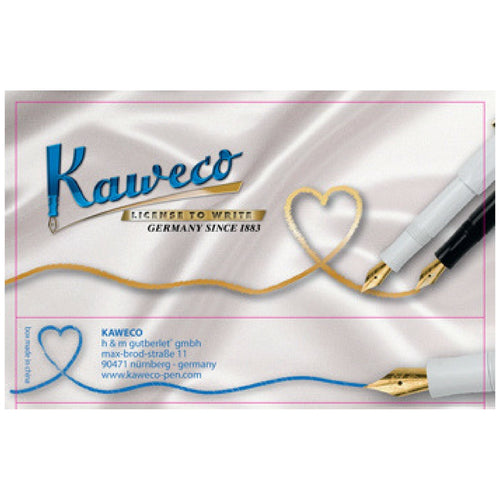 "Kaweco Tin Slipcase Cover - ""With Love"" - Short"