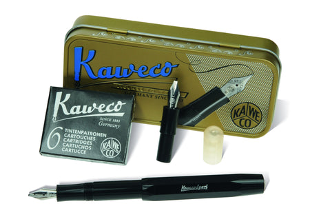 Kaweco SKYLINE Sport Fountain Pen - Black - Calligraphy Twin Nib