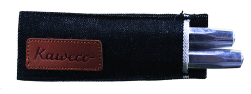 Kaweco Denim Pouch for 2 Sport Series Pens - Black Pen Pouches - we love pens