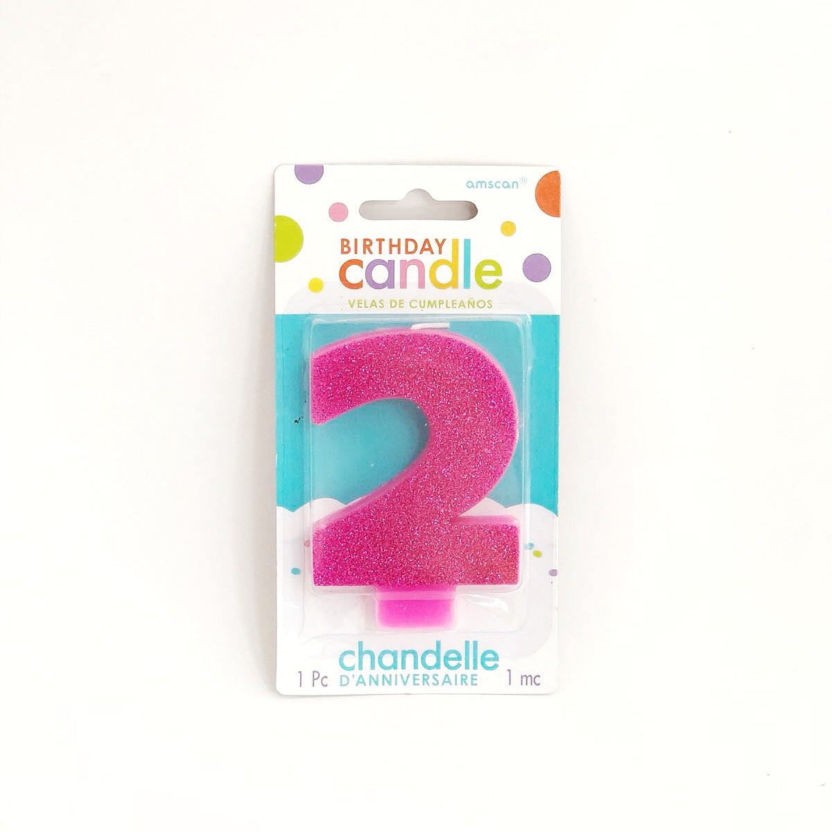 Amscan Candle (Glittered)