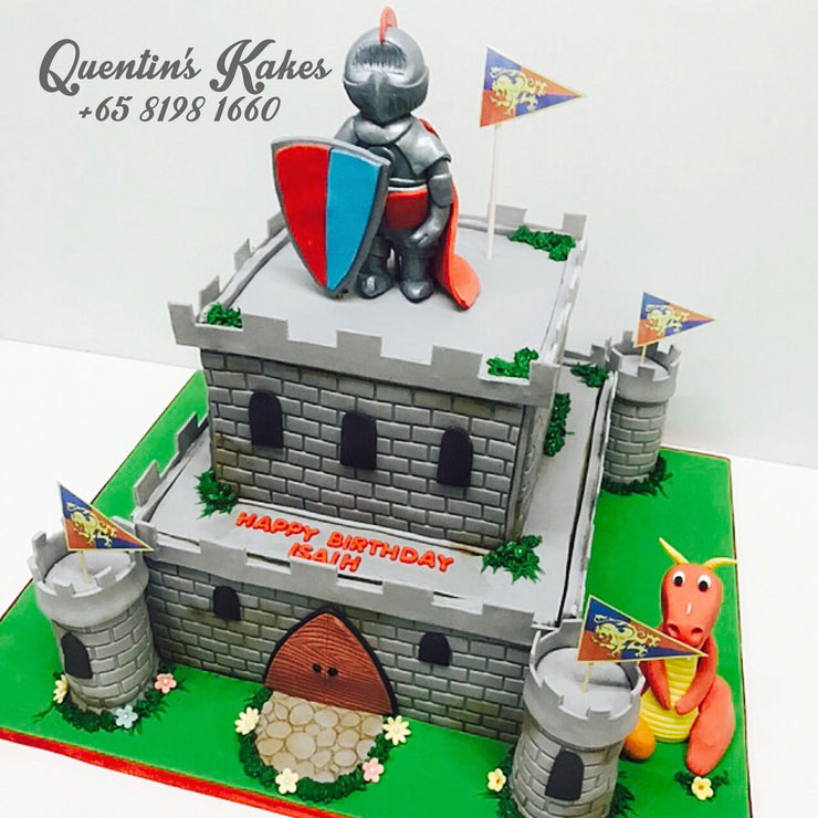 3D Castle Kake (Knight and Dragon)