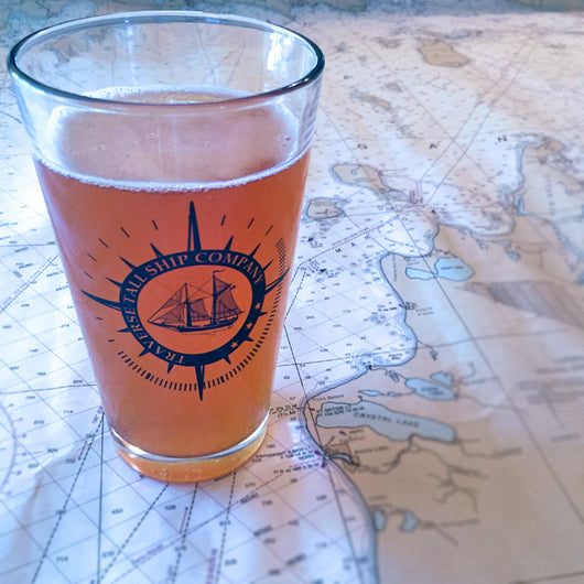 Tall Ship Pint Glass