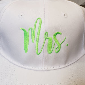 Mr. and Mrs.  Embroidered Baseball Caps with Veil