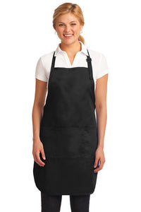 Funny Black Thanksgiving  Embroidered Apron, Here for the stuffing Full Length Apron
