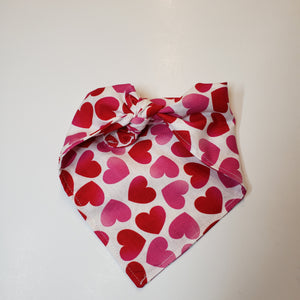 Personalized Dog Bandana, Valentine Red Black Dog Bandana
