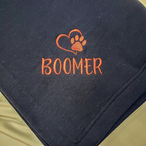 Personalized Dog Blanket | Pet Blanket | Embroidered Fleece Blanket |