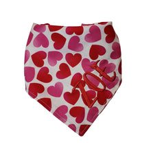 Load image into Gallery viewer, Personalized Dog Bandana, Valentine Red Black Dog Bandana