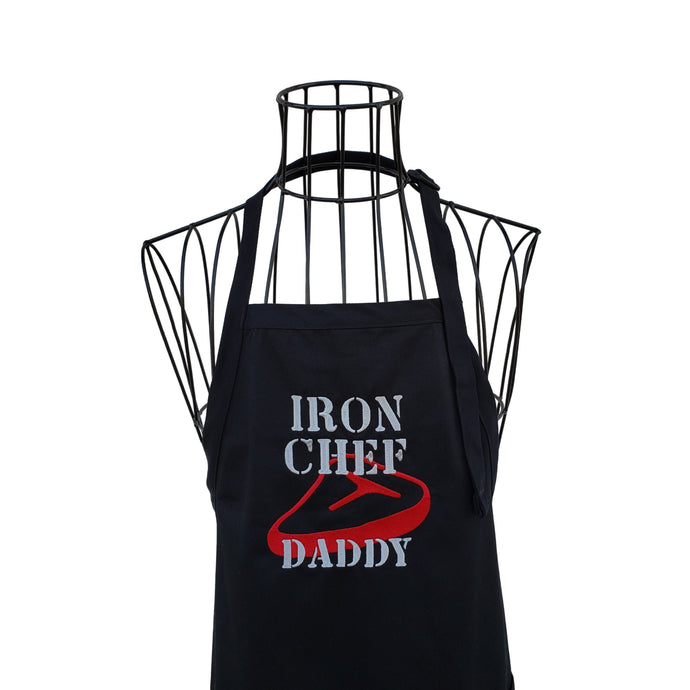 Daddy BBQ Apron, Iron Chef Daddy Apron, Fathers Day Gift,  Gifts for Him
