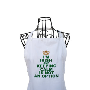 Funny Irish Apron, Embroidered St Patrick's Day apron