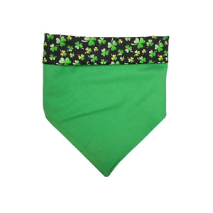 Personalized Reversible Tie On Dog Bandana with Snap, Custom Embroidered Dog Lover Gift, Versatile St. Patrick's Day Pet Gift