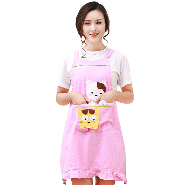 Kitchen Sleeveless Apron w/ Pockets for Cooking