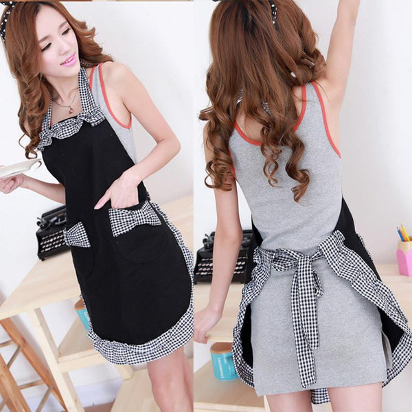 NEW Vintage Women Bow-Knot Kitchen Apron