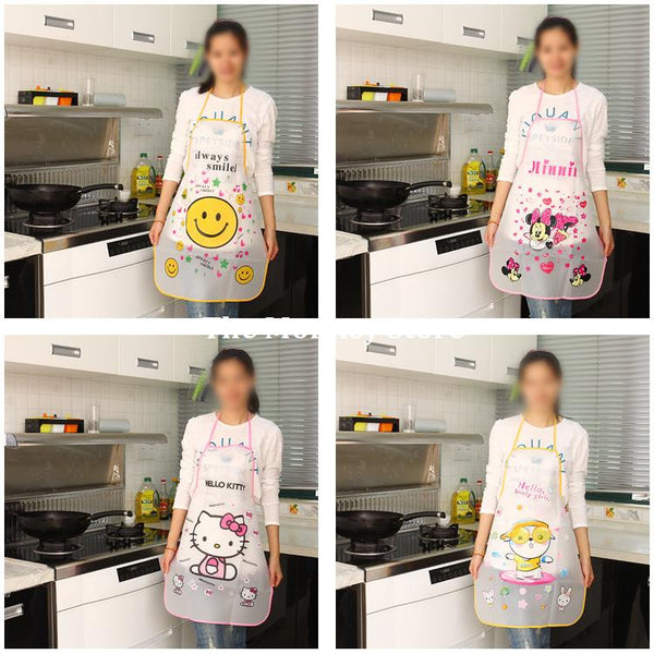 Kitchen Aprons Waterproof/ Anti-Oil Resistant For Women