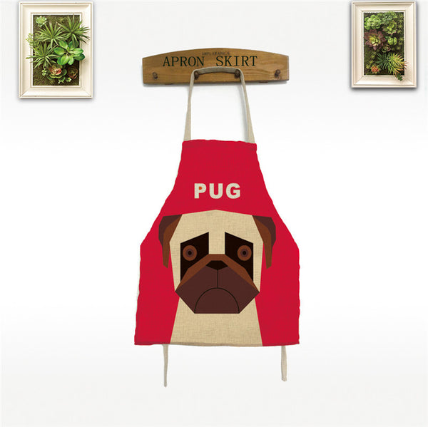 ***Free Gift*** Limited Time Only/Pug Dog Lovers Kitchen Cooking Animal Print Apron