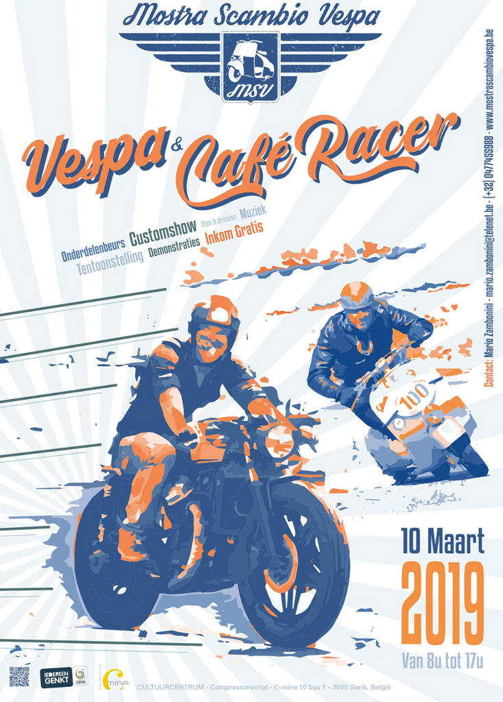 Vespa & Caferacer Genk Belgium / March 10th 2019