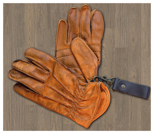 13 1/2 LOWLANDER GLOVES COGNAC - Dutch on Wheels