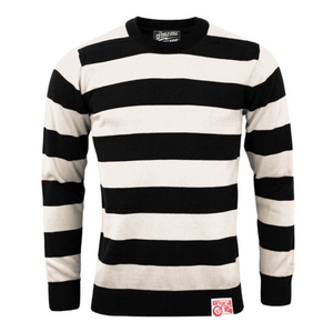 13-1/2 OUTLAW SWEATER BLACK/OFF WHITE