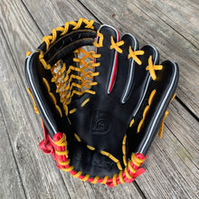 "11.5"" T-Net Web, FP Gold NP Cross-Over, Red/Black/Gold"