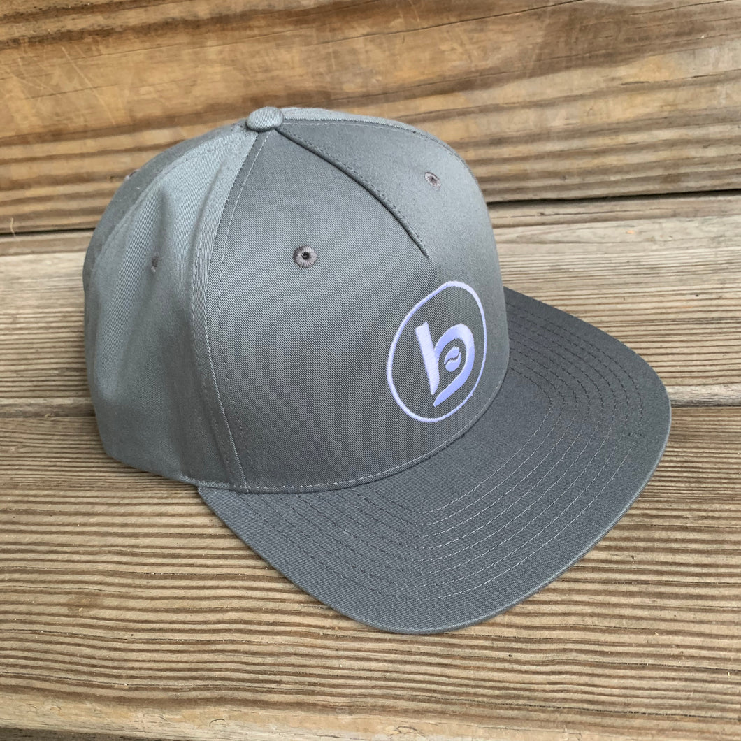 Flat-Brim Snap-Back Circle B Dude Hat (Charcoal)