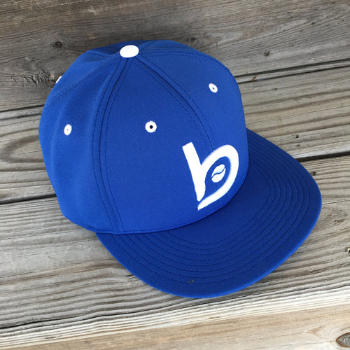 Bradley Baseball Flex-Fit Flat Brim Cap, Royal