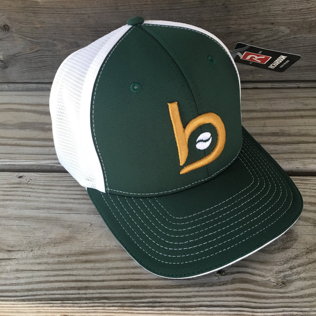 Bradley Baseball Flex-Fit Flat BP Hat (Forest Green)