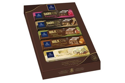 Assortiment de 5 tablettes de chocolats Leonidas