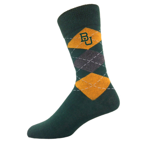 Two Feet Ahead - Baylor - Baylor Men's Argyle Sock