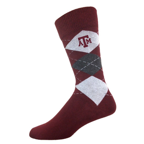 Two Feet Ahead - Texas A&M - Texas A&M Men's Argyle Sock