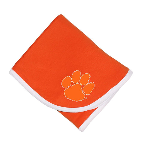 Two Feet Ahead - Clemson - Clemson Baby Blanket