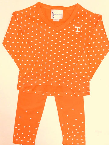 Two Feet Ahead - Tennessee - Tennessee Girls Heart Pant Set