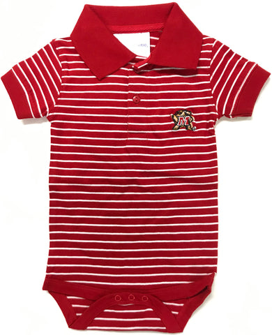Two Feet Ahead - Maryland - Maryland Jersey Stripe Golf Creeper