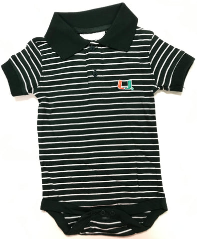 Two Feet Ahead - Miami - Miami Jersey Stripe Golf Creeper