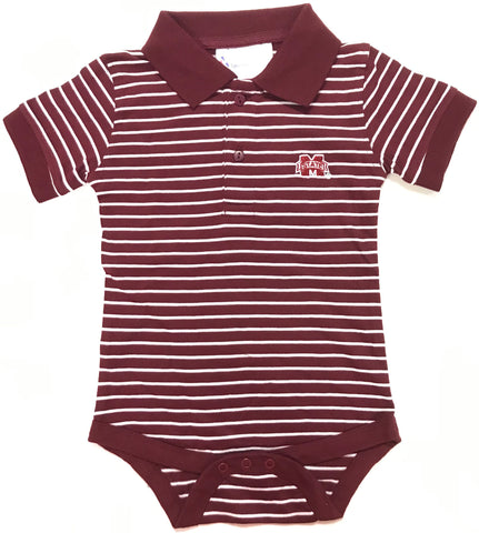 Two Feet Ahead - Mississippi State - Mississippi State Jersey Stripe Golf Creeper
