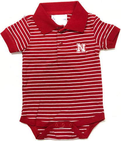 Two Feet Ahead - Nebraska - Nebraska Jersey Stripe Golf Creeper