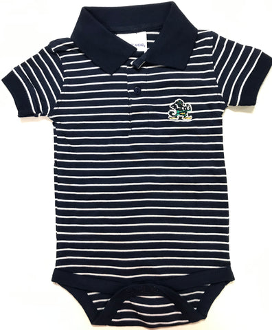 Two Feet Ahead - Notre Dame - Notre Dame Jersey Stripe Golf Creeper