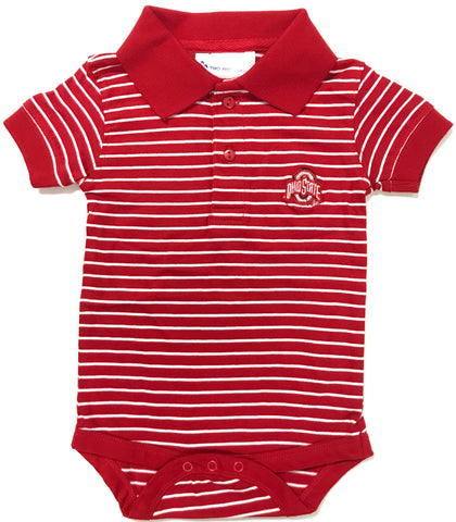 Two Feet Ahead - Ohio State - Ohio State Jersey Stripe Golf Creeper