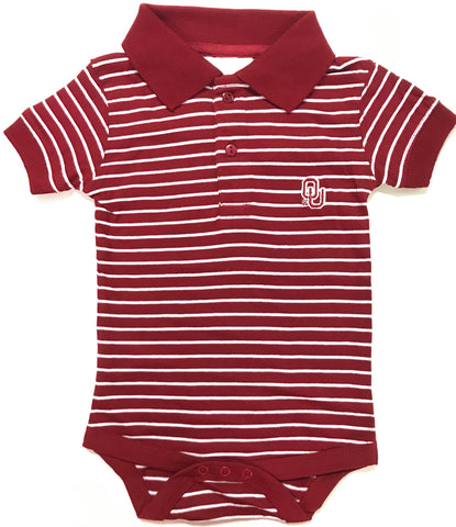 Two Feet Ahead - Oklahoma - Oklahoma Jersey Stripe Golf Creeper
