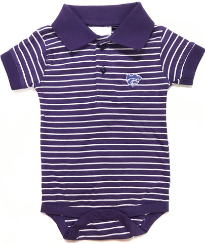 Two Feet Ahead - Kansas State - Kansas State Jersey Stripe Golf Creeper