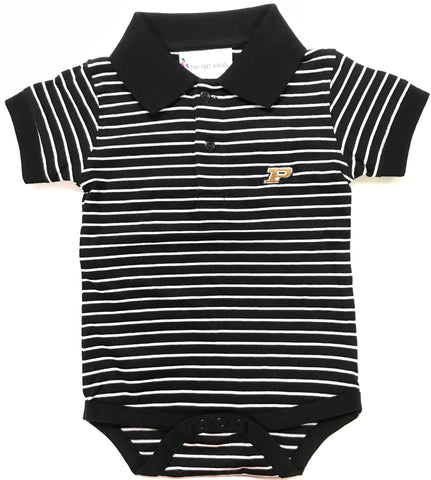 Two Feet Ahead - Purdue - Purdue Jersey Stripe Golf Creeper