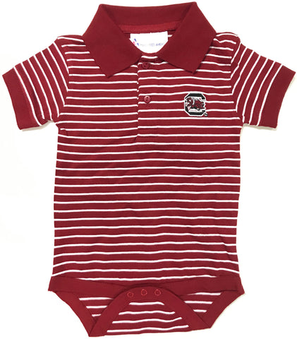 Two Feet Ahead - South Carolina - South Carolina Jersey Stripe Golf Creeper