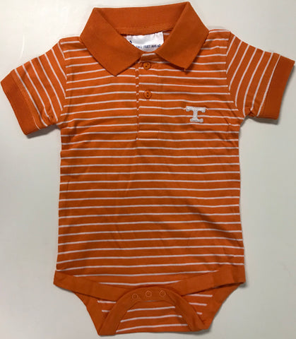 Two Feet Ahead - Tennessee - Tennessee Jersey Stripe Golf Creeper