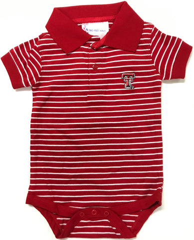 Two Feet Ahead - Texas Tech - Texas Tech Jersey Stripe Golf Creeper