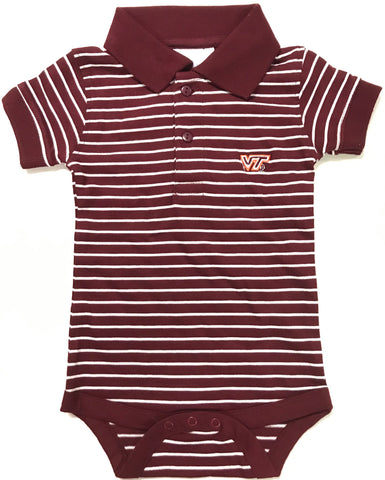 Two Feet Ahead - Virginia Tech - Virginia Tech Jersey Stripe Golf Creeper