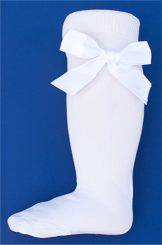 Two Feet Ahead - Socks - Girl's Nylon Knee Sock with Bow