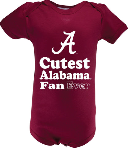Alabama Infant Lap Shoulder Creeper Print