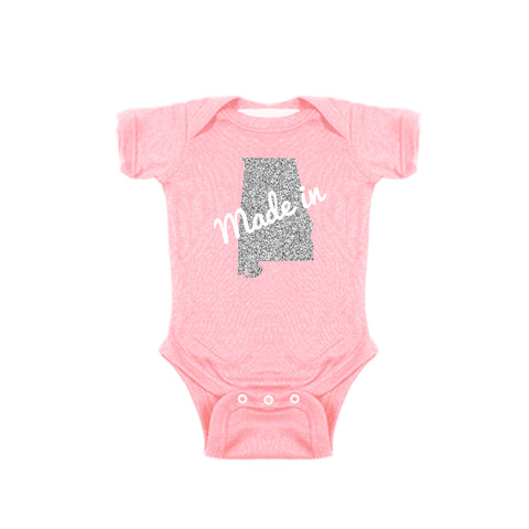 Two Feet Ahead - Infant Clothing - Made In Alabama Glitter Girl's Creeper
