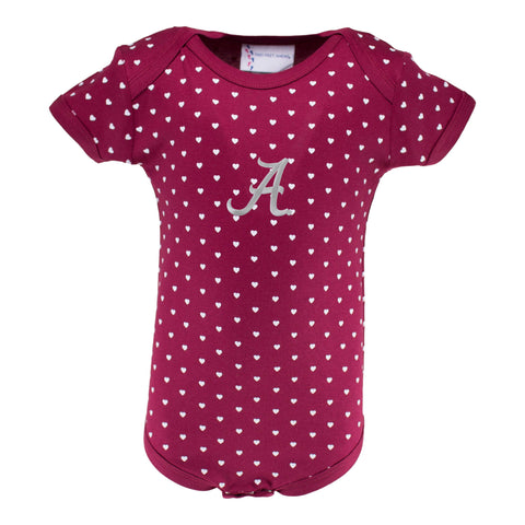 Two Feet Ahead - Alabama - Alabama Infant Lap Shoulder Heart Creeper