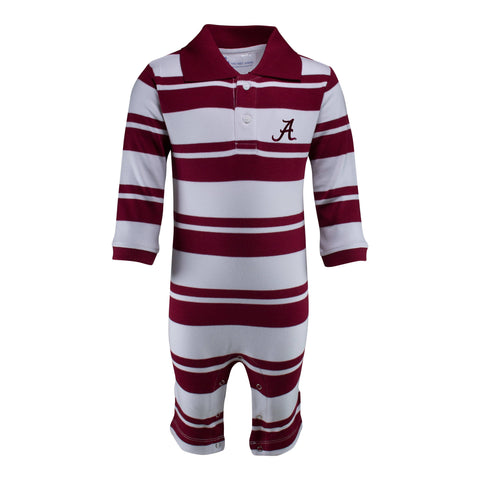 Two Feet Ahead - Alabama - Alabama Rugby Long Leg Romper