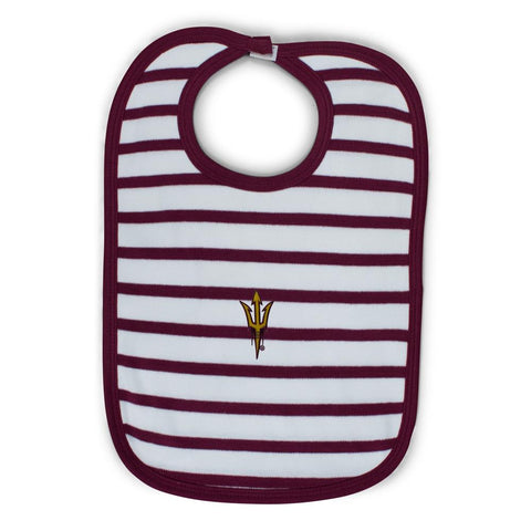 Arizona State Infant Stripe Knit Bib