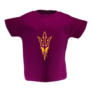 Two Feet Ahead - Arizona State - Arizona State Toddler Short Sleeve T Shirt Print